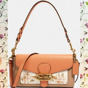 Coach Jade Shoulder Bag w/ Rose Bouquet  Print